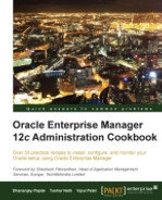 Cover of Oracle Enterprise Manager 12c Administration Cookbook