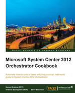 Cover of Microsoft System Center 2012 Orchestrator Cookbook