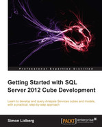 Cover of Getting Started with SQL Server 2012 Cube Development
