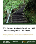 Cover of SQL Server Analysis Services 2012 Cube Development Cookbook