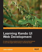 Cover of Learning Kendo UI Web Development