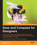 Cover of Sass and Compass for Designers