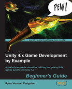 Cover of Unity 4.x Game Development by Example Beginner's Guide