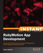 Cover of Instant RubyMotion App Development