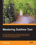 Cover of Mastering Sublime Text