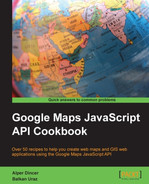 Cover of Google Maps JavaScript API Cookbook