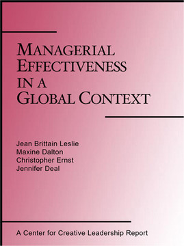 Managerial Effectiveness in a Global Context