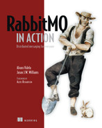 Cover of RabbitMQ in Action: Distributed messaging for everyone