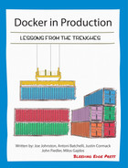 Cover of Docker in Production: Lessons from the Trenches