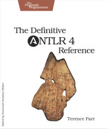 Cover of The Definitive ANTLR 4 Reference, 2nd Edition