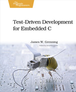 Cover of Test Driven Development for Embedded C