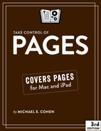 Cover of Take Control of Pages, 2nd Edition