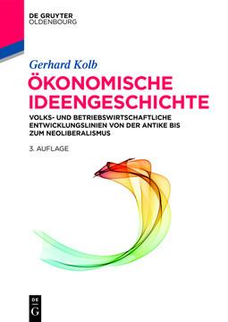Ökonomische Ideengeschichte, 3rd Edition