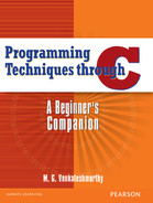 Cover of Programming Techniques Through C: A Beginner's Companion