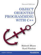 Cover of Object Oriented Programming with C++, Second Edition