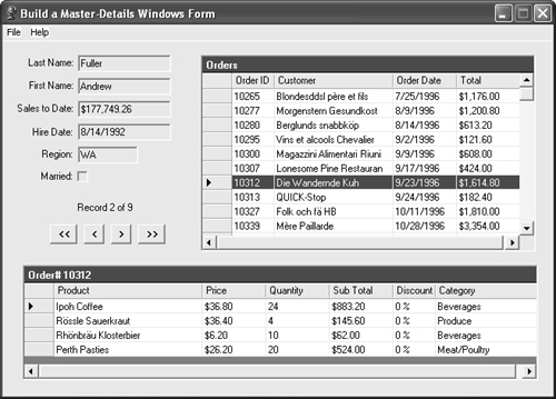 Build a Master-Details Windows Form - 101 Microsoft® Visual