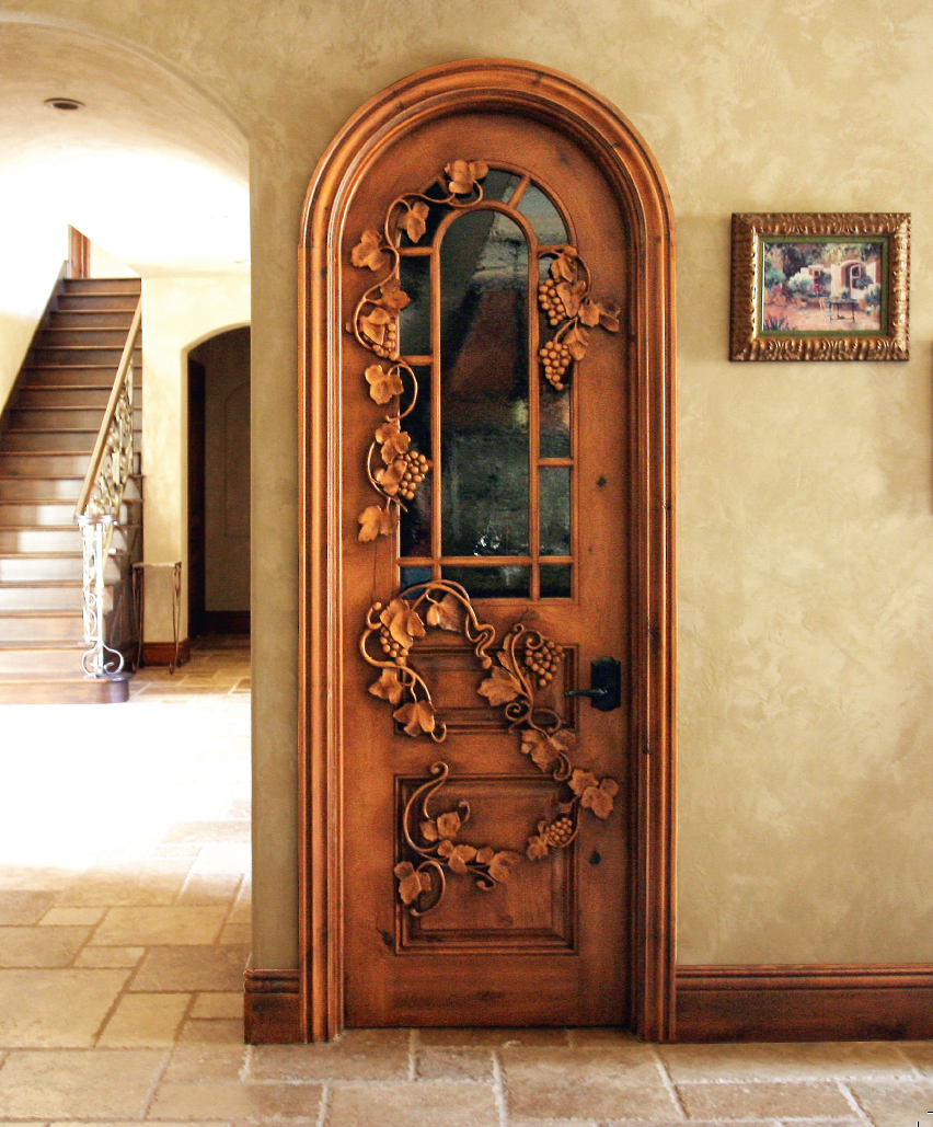 Vine Door by G. Watson Design. Traditional millwork produced in knotty alder. A door that leads to a wine cellar was enhanced by the incorporation of ... & Chapter 5 CNC Milling Routing and More - 3D Technology in Fine Art ...
