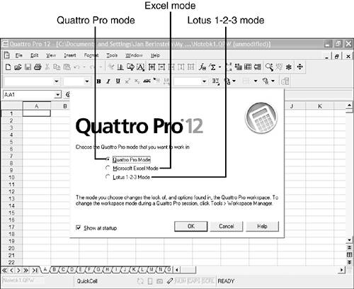 The quattro pro screen absolute beginners guide to wordperfect starting quattro pro freerunsca Image collections