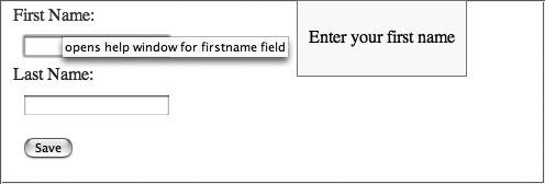 A form that uses JIT help
