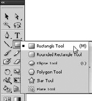 Basic shape tools.