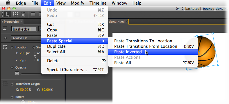 "When you read in a Missing Manual, ""Choose Edit→Paste Special→Paste Inverted,"" that means: ""Click the Edit menu to open it. Then click Paste Special in that menu; choose Paste Inverted in the resulting submenu."""