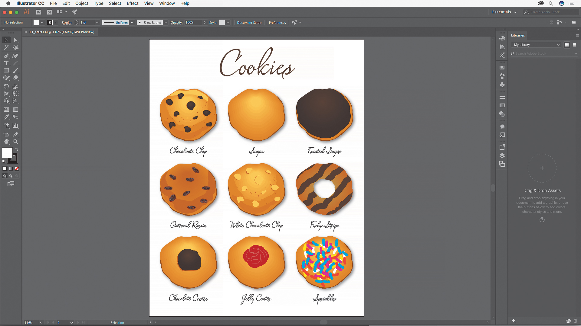 The flat user interface of Illustrator CC