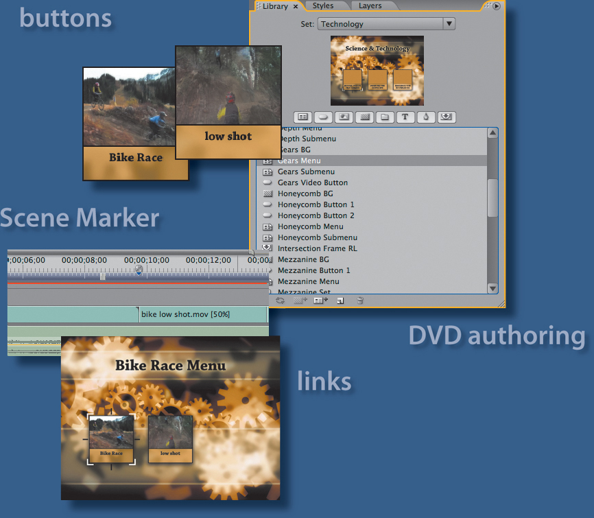 19  Authoring DVDs with Adobe Premiere Pro CS3 and Encore