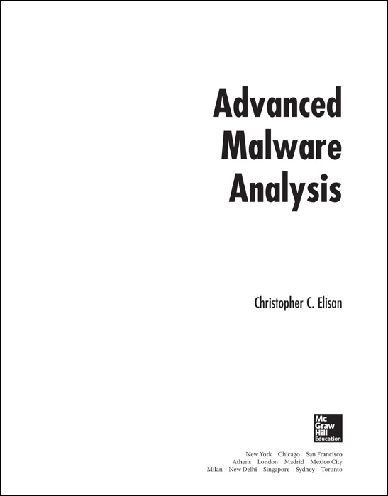 Title Page - Advanced Malware Analysis [Book]