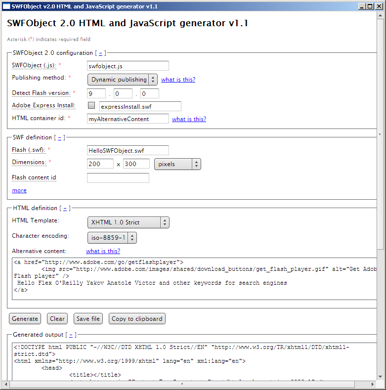 Embedding  swf Files into HTML Pages - Agile Enterprise