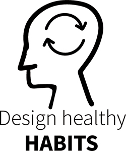 Design healthy habits - representation shows the refresh icon a human head.