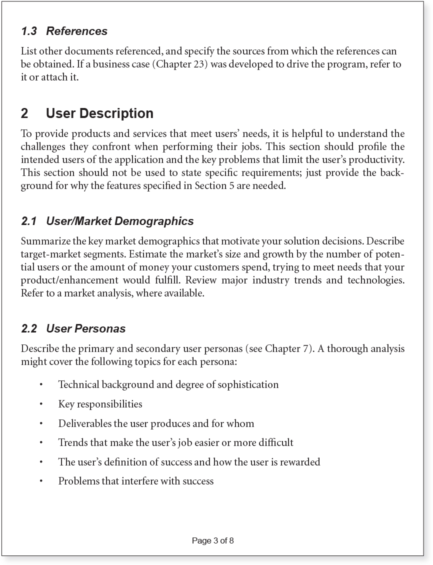 Appendix b vision document template agile software requirements image wajeb Gallery