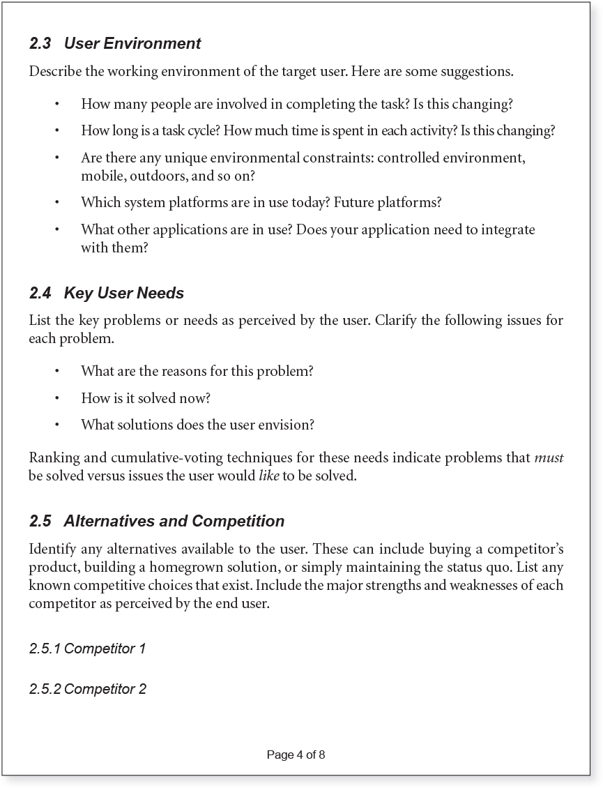 Agile software requirements template 28 images one agile software requirements template appendix b vision document template agile software pronofoot35fo Choice Image