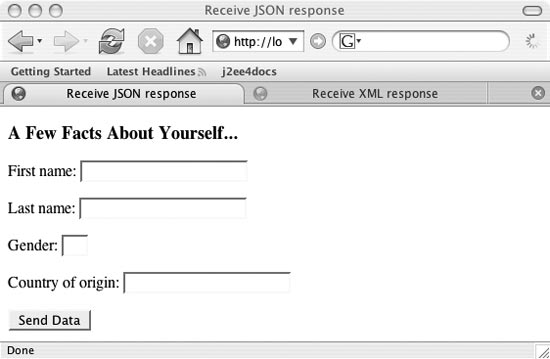 JSON is calling