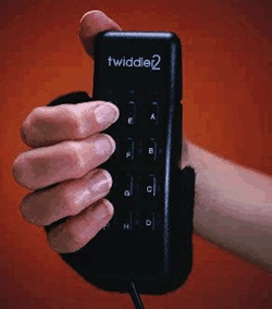 The Twiddler 2 is a four ounce combination keyboard and mouse manufactured by the Handkey Corporation