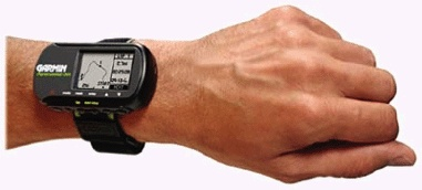 The Garmin Forerunner 201 GPS watch