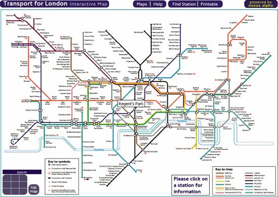Interactive map of the London Underground