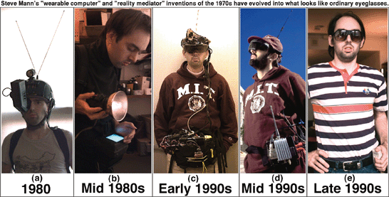 The evolution of Steve Mann's wearable computer