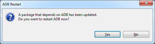 Confirmation to restart ADB