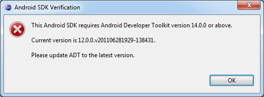 Android SDK version incorrect