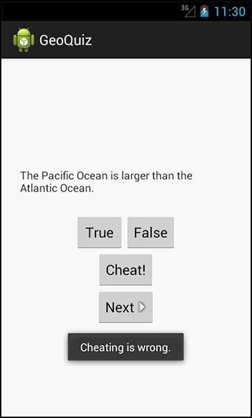 QuizActivity knows if you've been cheating