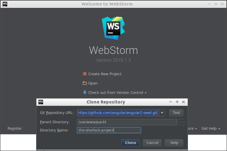 Setting up an Angular project in WebStorm - Angular Services