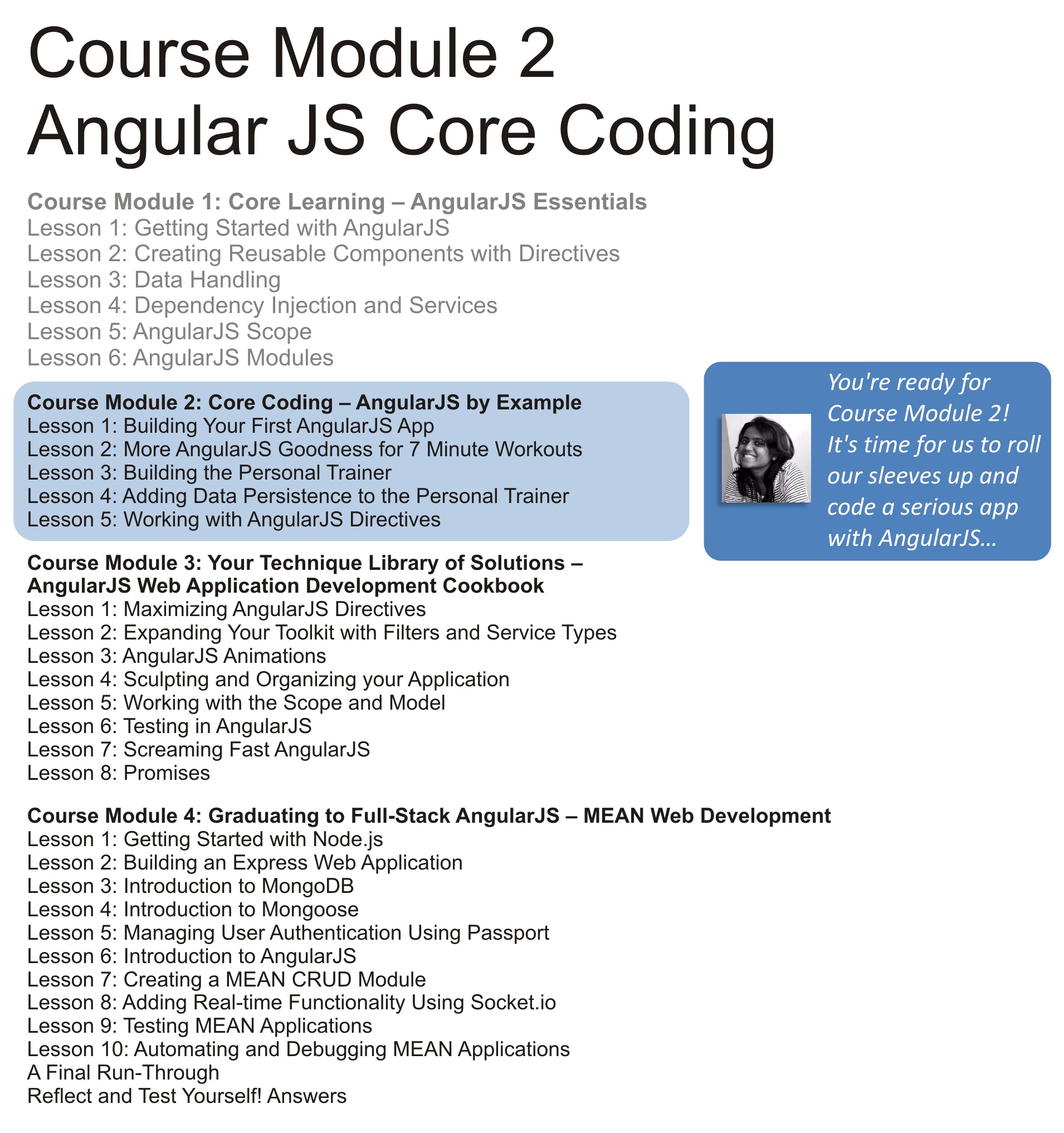 Core Coding – AngularJS By Example
