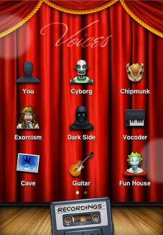 Voices, which has a vaudeville personality appropriate to a funny-voices novelty app