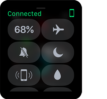 **①** Control Center gives you quick access to important information and controls.