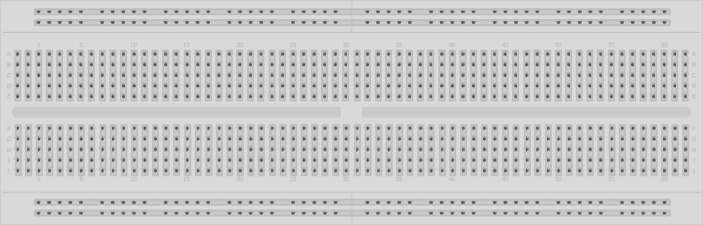 Breadboard for prototyping circuits