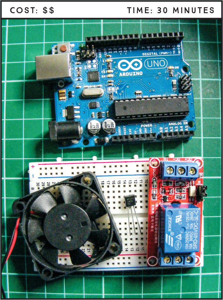 Project 12: Temperature-Controlled Fan - Arduino Project Handbook