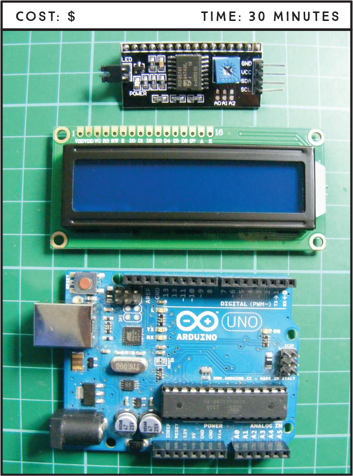 Project 16: Serial LCD Screen - Arduino Project Handbook, Volume II ...