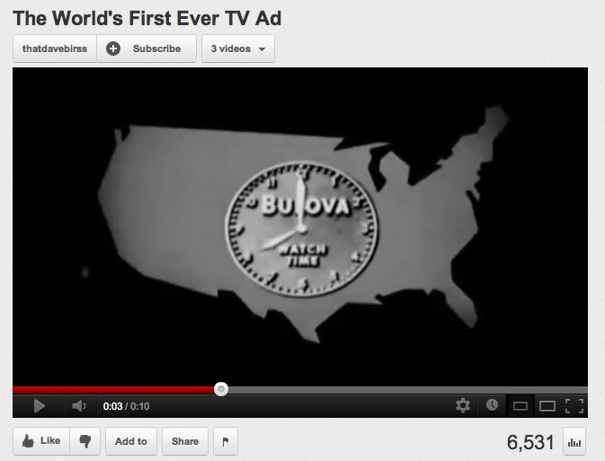 America runs on Bulova time. (Courtesy of Bulova and YouTube.)