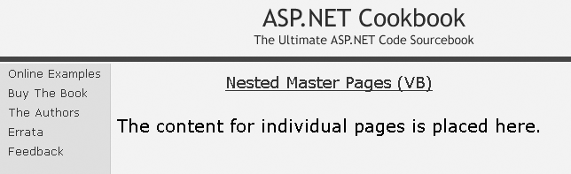 Nested master page example output