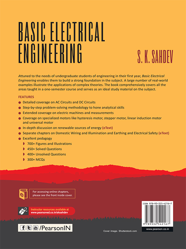 Back Cover Basic Electrical Engineering Book